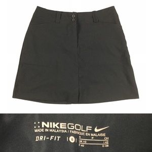 NIKE Women's Golf Dri-Fit Tech Skirt Skort Black 6